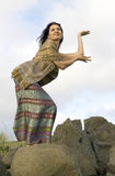 Thai dance on stones Stock Photos