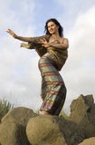 Thai dance on stones Stock Photography