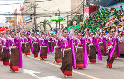 Thai dance at traditional candle procession festival of Buddha Royalty Free Stock Photos