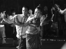 Thai dancer in Canddle festival Royalty Free Stock Images