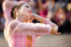Thai dancer in festival Royalty Free Stock Image