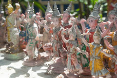 Thai Dancer statue. Worship buddha stock photos