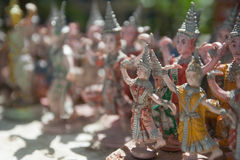 Thai Dancer statue. Worship buddha royalty free stock images