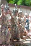 Thai Dancer statue. Worship buddha stock image