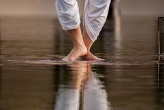 Thai dancer. Traditional performance dancing on water Royalty Free Stock Photos