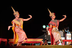 Thai dancing Royalty Free Stock Photo