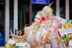Thai dancing funeral stock photo
