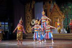 Thai dancing show for tourists Stock Photo