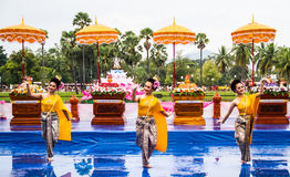 Thai dancing Royalty Free Stock Photo