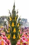 Thai dancing to worship Royalty Free Stock Photo