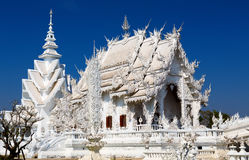 Main chapel of the famous Wat Rong Khun (White temple) in Thaila Stock Photos