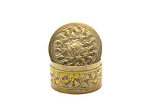 Thai Decorations  brass box Stock Photos