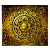 thai dekorativ lanna för konst Arkivbilder