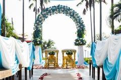 thai dekorera bröllop Arkivfoton