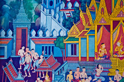 Thai delicated mural Royalty Free Stock Image