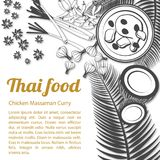 Sketch Thai Food Menu Massaman [Converted] stock photography