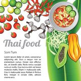 Thai Food Menu Som Tum Stock Image
