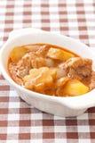 Thai delicious massaman curry on fabric Stock Photos