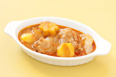 Thai delicious massaman curry on table Stock Photo