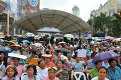Thai Democrat Party Supporters Stock Image