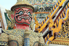 Thai demon. IN TEMPLE wat pra kaew Royalty Free Stock Image