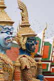 Thai demon-guards statue Stock Images