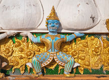 Thai Demon on the top of Tiger Temple (Wat Tham Suea) Stock Photos