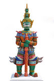 Thai Demon Warrior. Wat Bangpai, Thailand Stock Photos