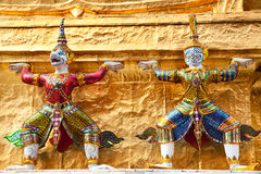 Thai demons in grand palace Royalty Free Stock Photos