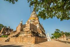 Thai Deputy Prime Minister Wat Yai Chai mongkol Ayudhaya, Thailand.  Royalty Free Stock Photos