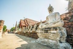 Thai Deputy Prime Minister Wat Yai Chai mongkol Ayudhaya, Thailand.  Stock Images