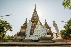 Thai Deputy Prime Minister Wat Yai Chai mongkol Ayudhaya, Thailand.  Royalty Free Stock Photo