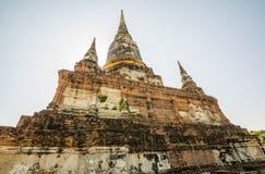 Thai Deputy Prime Minister Wat Yai Chai mongkol Ayudhaya, Thailand.  Stock Image