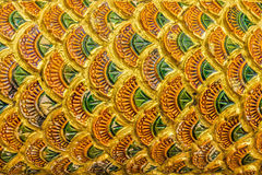 Thai design pattern of Naga (fabulous serpent) scales Royalty Free Stock Images