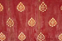 Thai designs on old wood Royalty Free Stock Images
