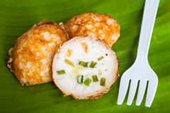 Thai desser. T, coconut milk with powder fried stock image