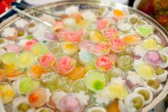 Thai dessert. Colorful. various color.be eat Royalty Free Stock Image