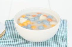 Thai dessert Balls in bowl stock photos