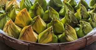 Thai dessert. In banana leaf Stock Photography