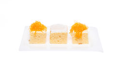 Thai dessert cake Stock Photos