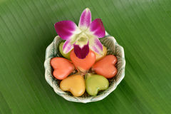 Thai dessert called khanom look choup. Stock Images