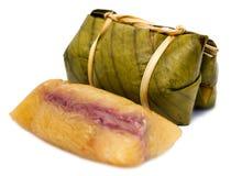 Thai dessert called Khao Tom Mad Stock Photo