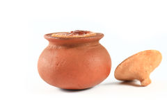 Thai dessert in clay pots Stock Image