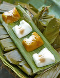 Thai dessert from coconut and banana Royalty Free Stock Photo