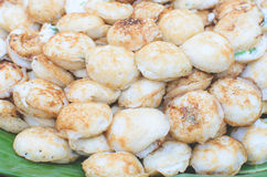 Thai dessert, coconut milk with powder fried Royalty Free Stock Photos