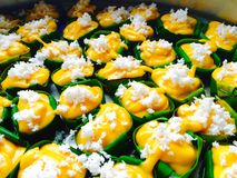 Thai dessert cooking  made from toddy palm Stock Images