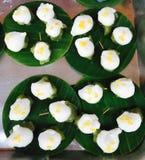 Thai dessert display coconut ingredient Royalty Free Stock Images