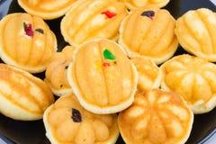 Thai dessert. egg cake raisin Royalty Free Stock Images