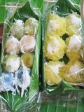 Thai dessert at floating market royalty free stock photography