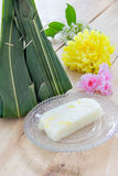 Thai dessert with flowers Royalty Free Stock Photography